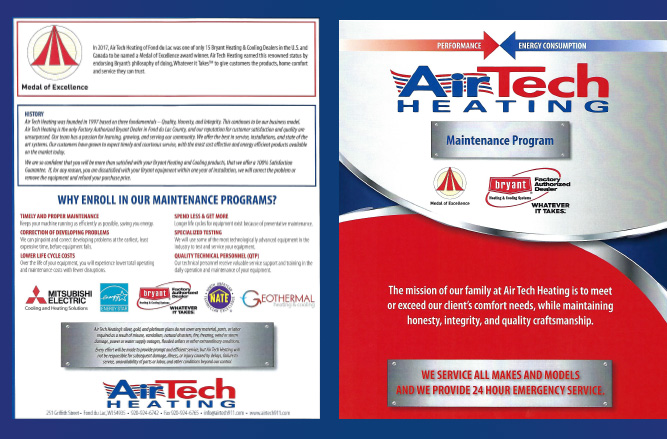air tech hvac maintenance brochure