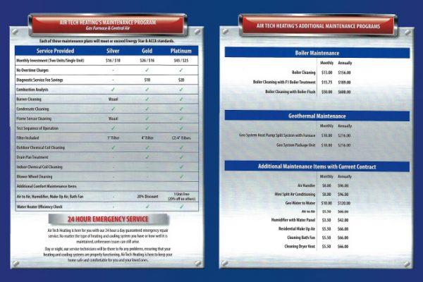 Air Tech Maintenance HVAC brochure