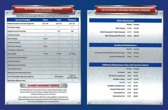 Air Tech Maintenance HVAC brochure