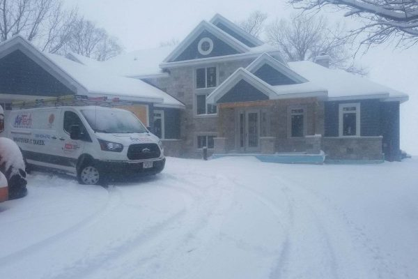 House construction during winter with AirTech