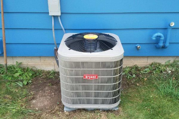 newly installed Bryant air conditioner