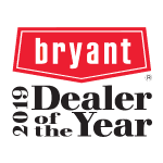 Bryant Dealer of the Year Award logo